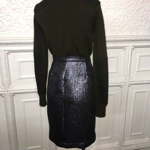 Aqua Skirts - NWT Aqua Metallic Blue Pencil Skirt w/Front Zipper